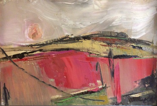 Emma Haggas, Sunrise over Collingbourne (Hungerford Gallery)