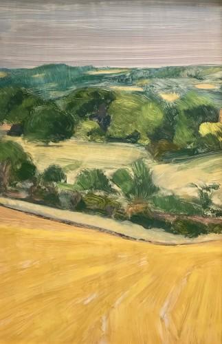 Celia Montague, Above Charlbury, towards Dean (Hungerford Gallery)