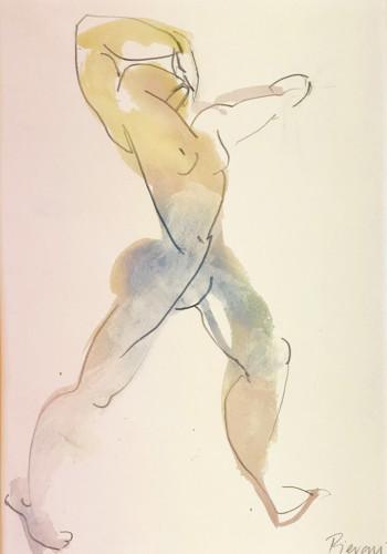 Bella Pieroni, Acrobat (Mounted) (Hungerford Gallery)