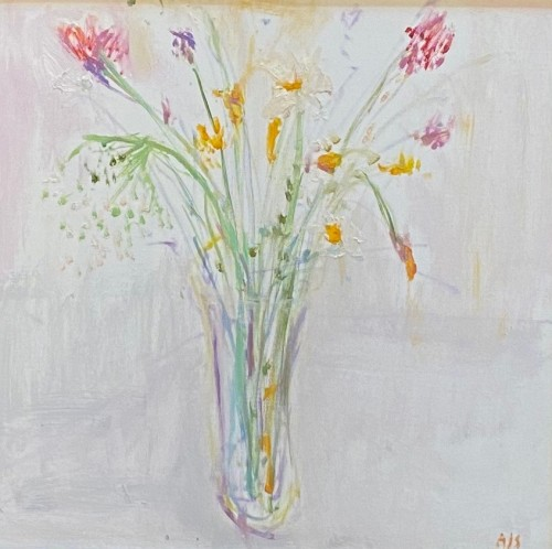 Ann Shrager, A Vase with Spring Flowers (London Gallery)