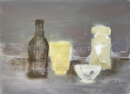 Val Pitchford, Brown Bottle (Hungerford Gallery)
