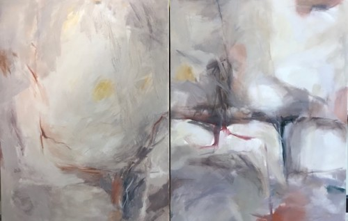 Margaret Devitt, Abstract Diptych (Unframed)