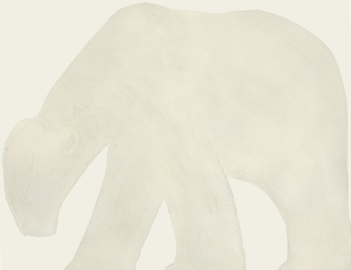 Kate Boxer, Polar Bear - White (Mounted)