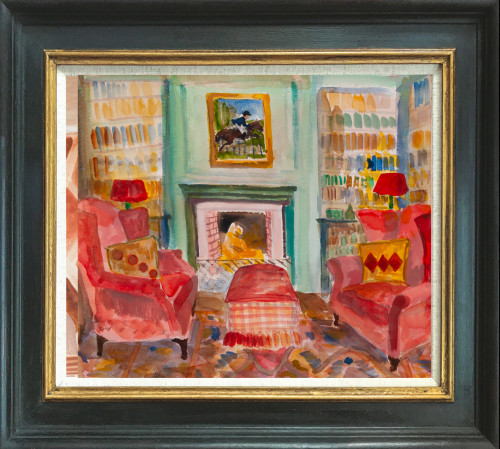 Lottie Cole, Interior with Two Red Armchairs (Hungerford Gallery)