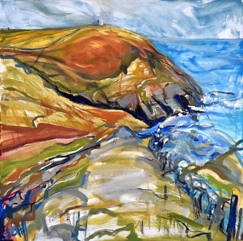Emma Haggas, Cliffs at Boscastle, North Cornwall (London Gallery)