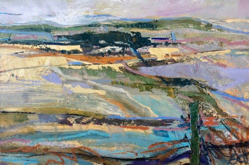 Emma Haggas, Colours across Pewsey Vale (Hungerford Gallery)