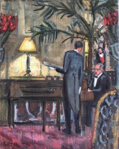 Lucy Dickens, Piano Player at The Ritz (Unframed) (London Gallery)