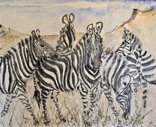 Christine Seifert, Zebras (London Gallery)