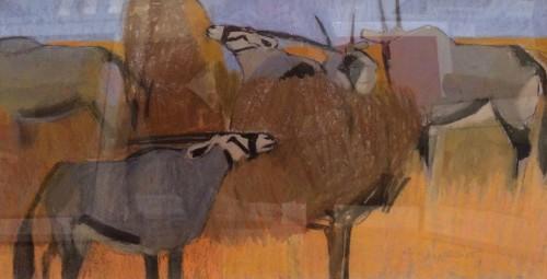 Dafila Scott, Gemsbok Browsing, Kalahari (London Gallery)