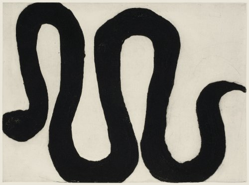 Kate Boxer, Snake III (Mounted)