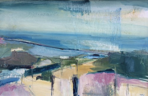 Jo Vollers, Looking across to Chesil Beach (London Gallery)