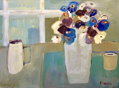 Bridget Lansley, Blue Calm (Hungerford Gallery)
