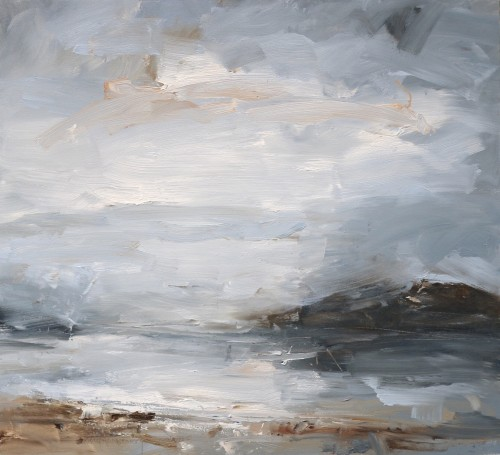 Louise Balaam, Pale Grey Sky (Towards Cona) (Hungerford Gallery)