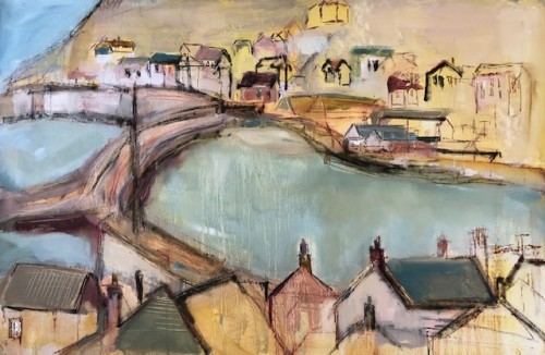 Jo Vollers, Mousehole Harbour, Cornwall (London Gallery)