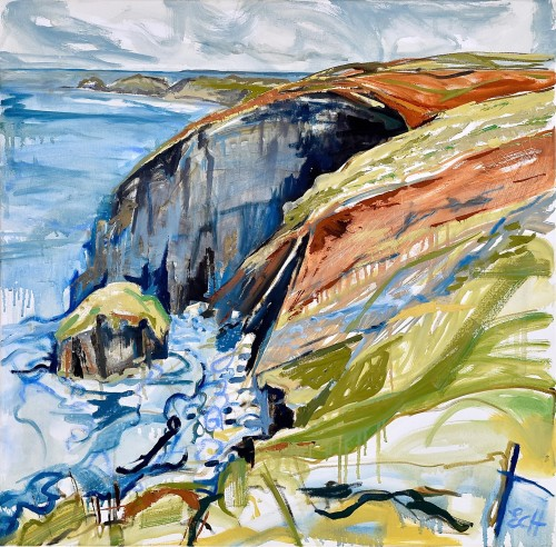 Emma Haggas, Cliffs at Beeny, North Cornwall (London Gallery)