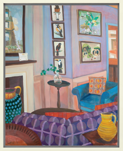 Lottie Cole, Interior with John Armstrong, Simon Bussy and Cedric Morris (Hungerford Gallery)