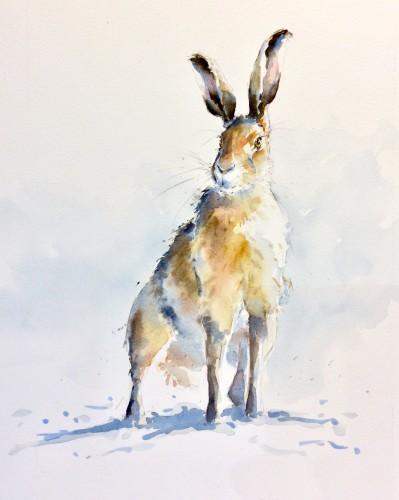 Julia Cassels, Wintery Hare (London Gallery)