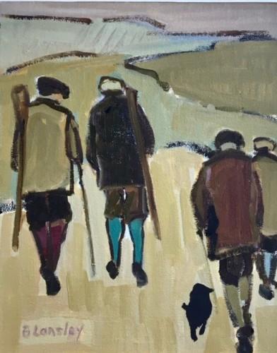 Bridget Lansley, Across the Stubble (Hungerford Gallery)