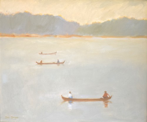 Clare Granger, Three Boats (Hungerford Gallery)