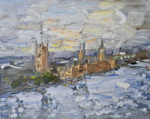 Richard Colson, Parliament from Westminster Tower I (London Gallery)