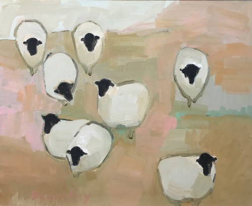 Bridget Lansley, Sheep in Waiting (Hungerford Gallery)