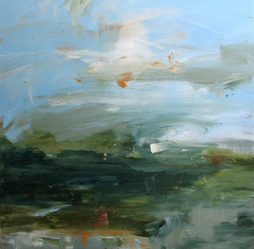 Louise Balaam, Turquoise Sky - Blue-Green (unframed) (London Gallery)