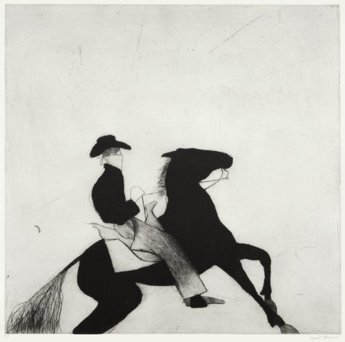 Kate Boxer, Cowboy and Horse (Unframed)