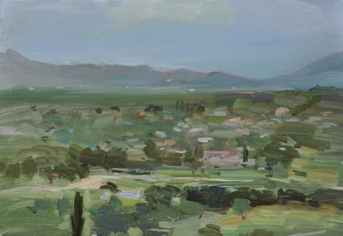 Richard Colson, Across the Plain, Pollenca (Hungerford Gallery)