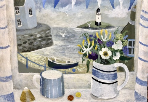 Sarah Bowman, Summer Flowers and Seashells (Hungerford Gallery)