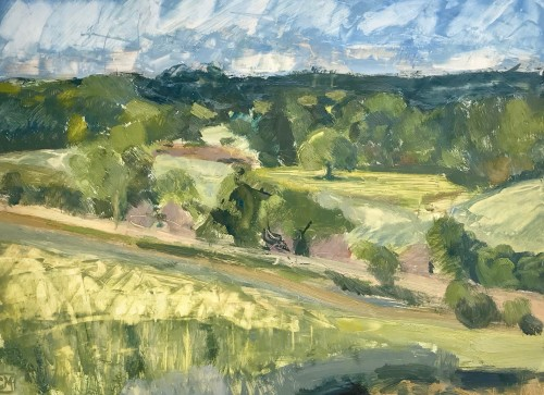 Celia Montague, June, above Charlbury (Hungerford Gallery)