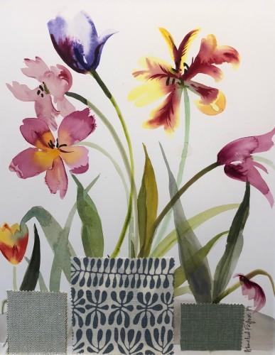Annabel Fairfax, Mixed Tulips (London Gallery)