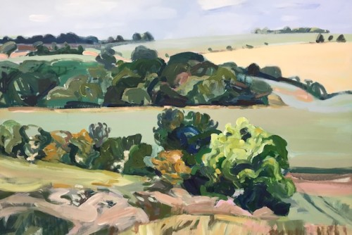 Minnie Shaw Stewart, West from Chaddleworth II (Hungerford Gallery)