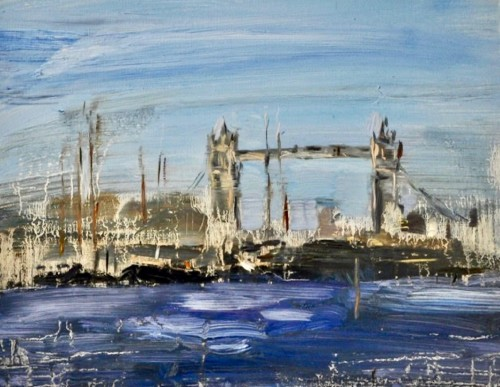 Richard Colson, Tower Bridge from Wapping (London Gallery)
