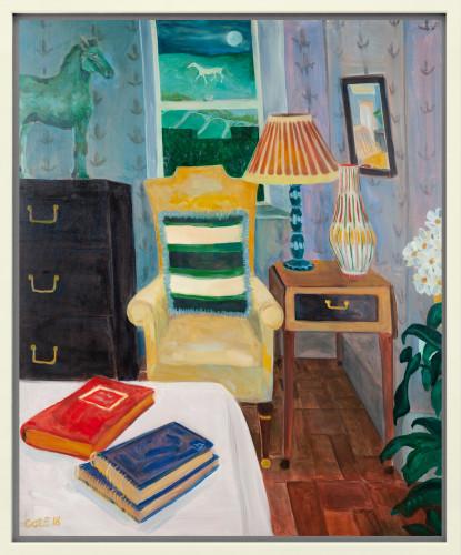 Lottie Cole, Interior with Elisabeth Frink Horse & The Alton Barnes White Horse (London Gallery)