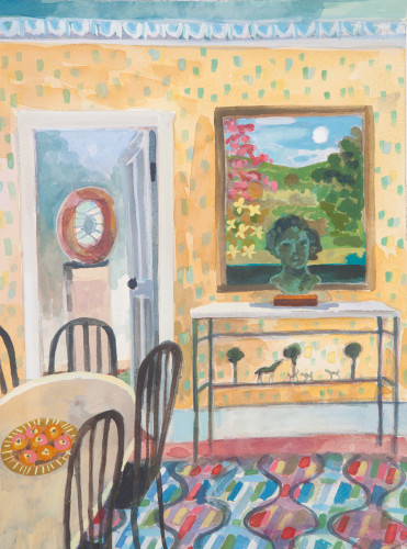 Lottie Cole, Interior with Barbara Hepworth and Diego Giacometti Sideboard (London Gallery)