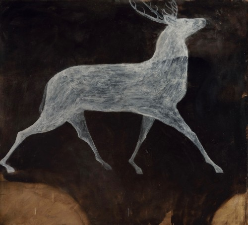 Kate Boxer, Stag I (oil on canvas) Hungerford Gallery