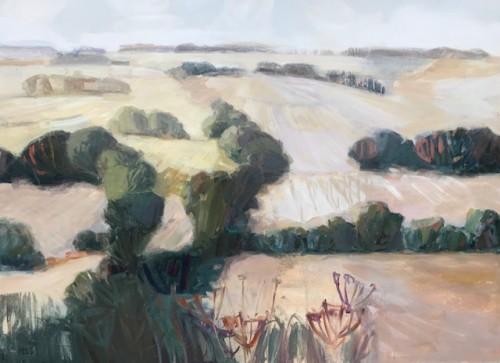 Minnie Shaw Stewart, West from Chaddleworth (London Gallery)