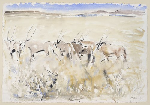 Christine Seifert, Departing Eland (Unframed) (Hungerford Gallery)