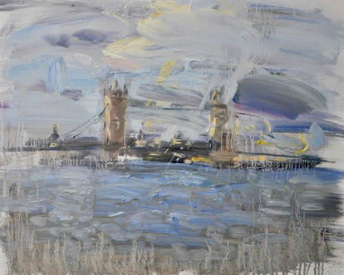 Richard Colson, Tower Bridge from Shadwell (London Gallery)