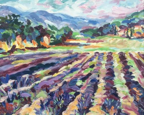 Fi Katzler, Lavender near Cadenet (Hungerford Gallery)
