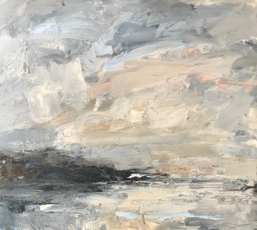 Louise Balaam, Pale Golden Clouds (Scottish Coast)