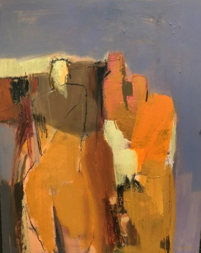 Dafila Scott, Three Figures, Blue Sky (London Gallery)