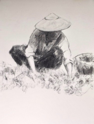 Clare Granger, Gardening (Hungerford Gallery)