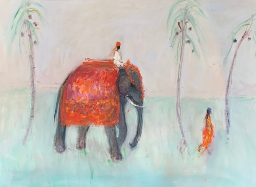 Ann Shrager, Man on an Elephant (London Gallery)