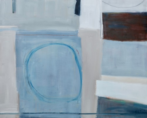 Shirin Tabeshfar Houston, Blue Circle (Hungerford Gallery)