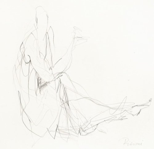 Bella Pieroni, Drawing of a Seated Woman (Framed) (Hungerford Gallery)