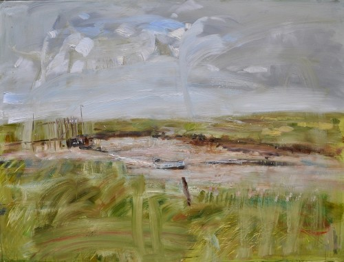 Richard Colson, Beached at Morston, Norfolk II (Hungerford Gallery)