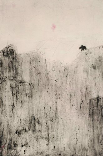 Kate Boxer, Bear on a Rock (Unframed)
