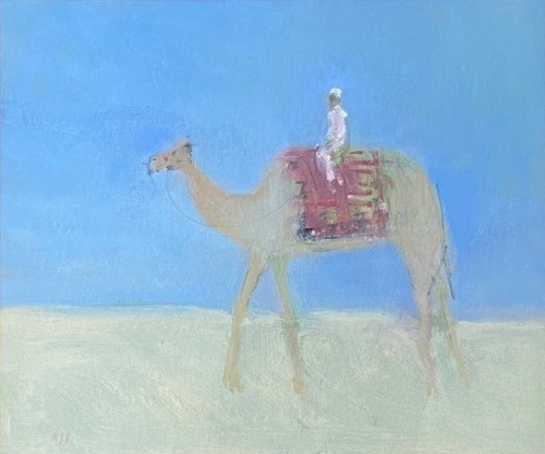 Ann Shrager, Man on a Camel (London Gallery)
