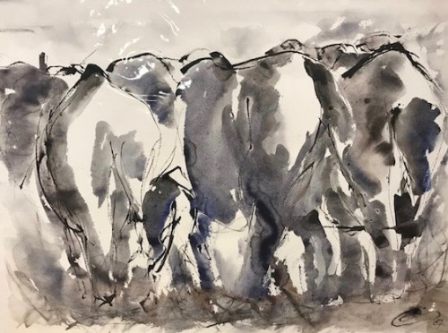 Christine Seifert, Elephants Away (Unframed) (Hungerford Gallery)